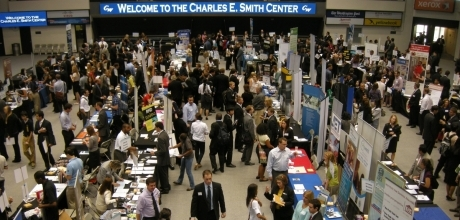 GW students participate in several career fairs throughout the year.
