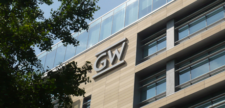 GW Logo on Science and Engineering Hall