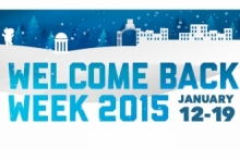 Welcome back week 2015, January 12-19