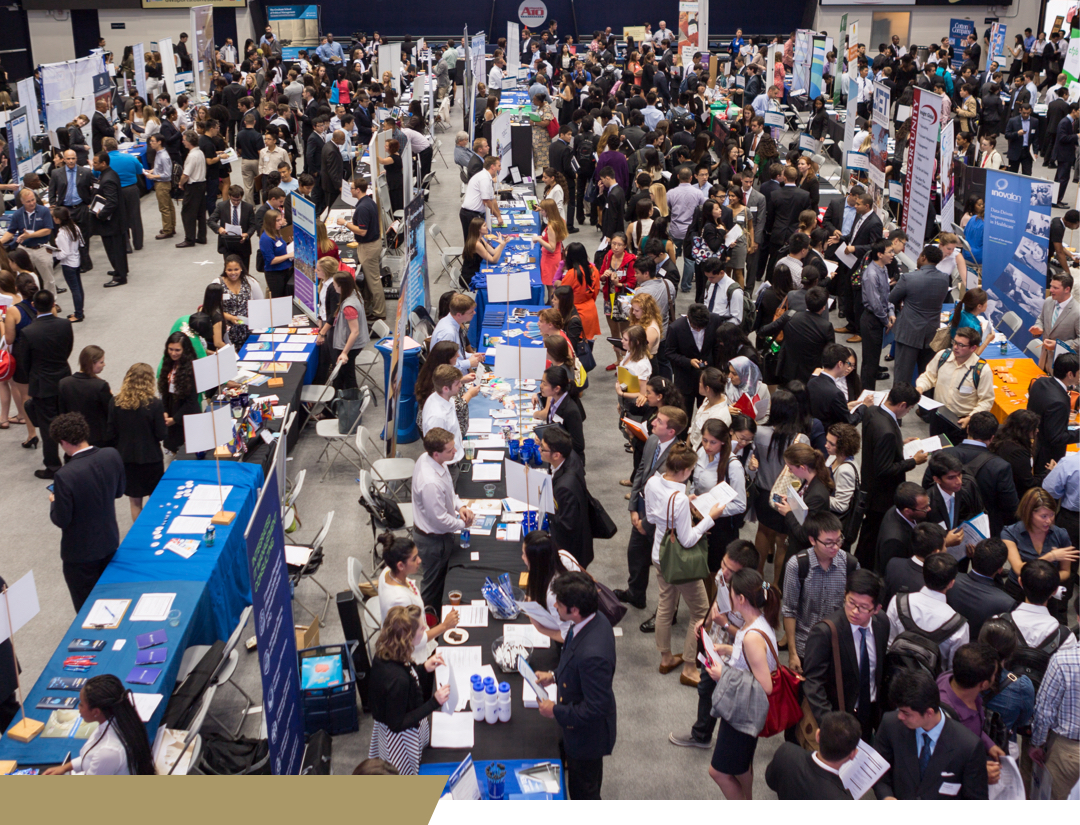 students at a career fair
