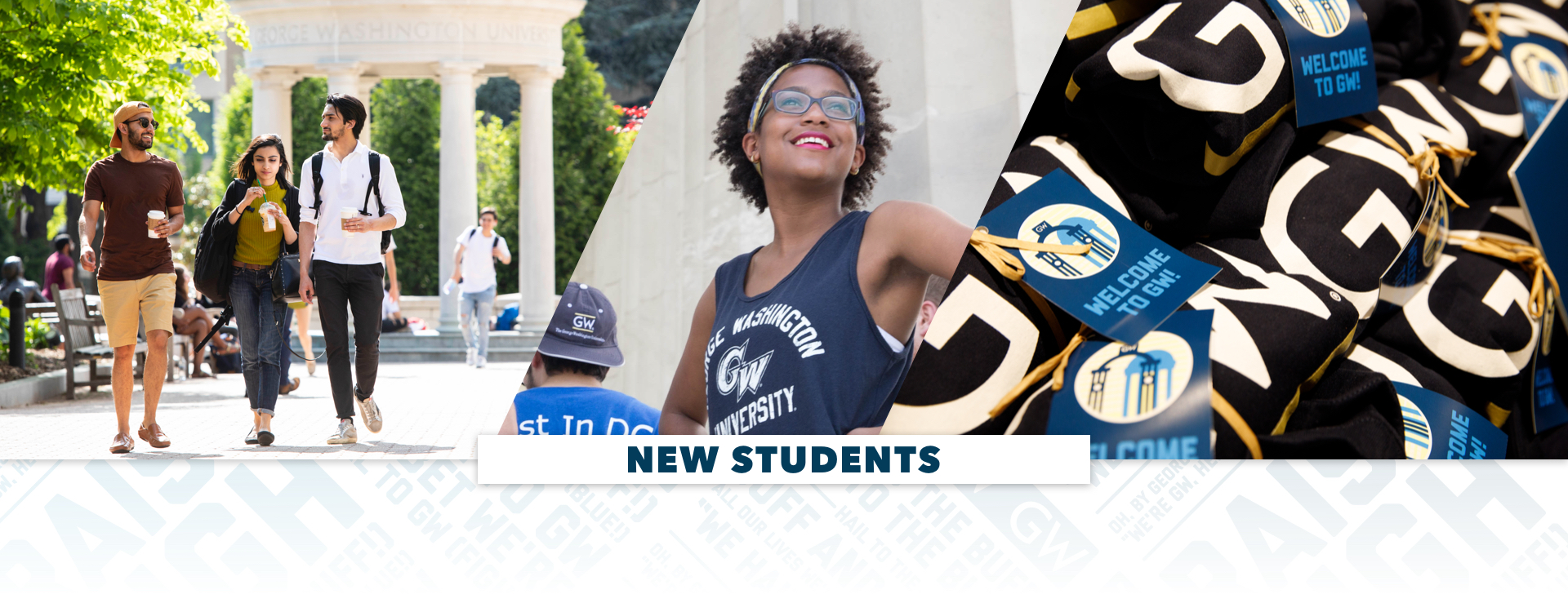 New Students, images of students on campus