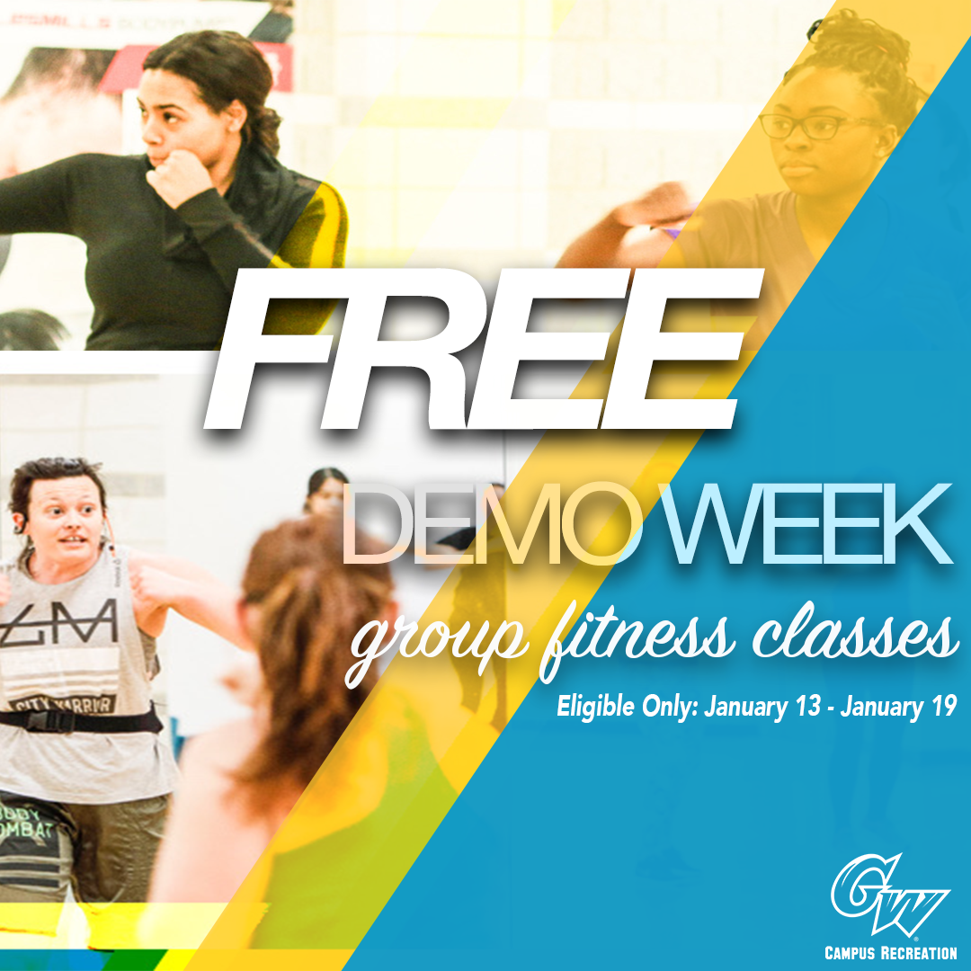 Lerner Health and Wellness Center Free Demo Week is January 13 - 19, 2020. Sign up for free group fitness classes!